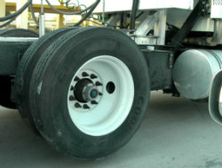 poorly maintained truck tire