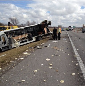 Tractortrailer accident Kansas City MO