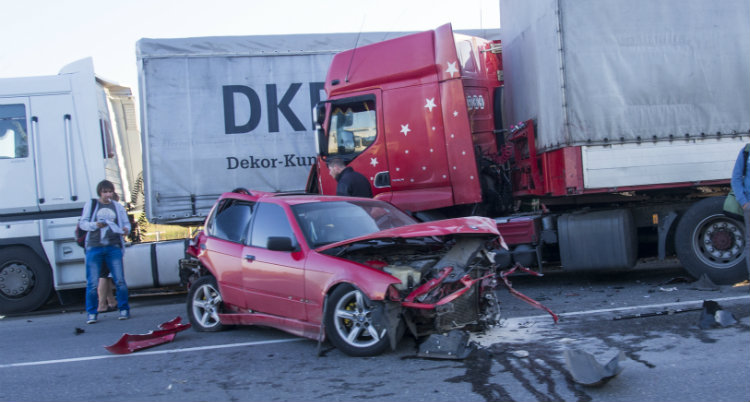 SemiTruck Accident with Car