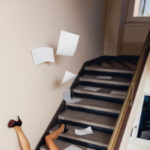 Inadequate Lighting fall down steps